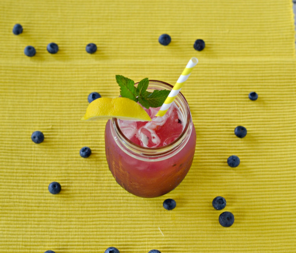 Lemon Blueberry Mint Iced Tea