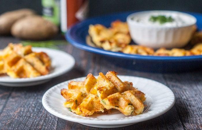 Potato Chive Waffle Appetizer