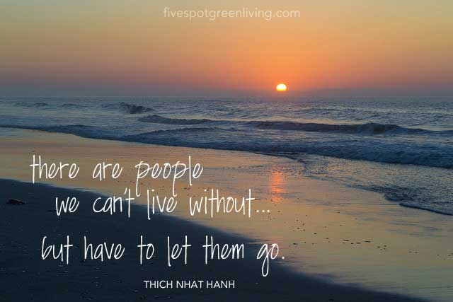 There are people we can't live without...but have to let them go. Thich Nhat Hanh Quotes and Talk of Peace
