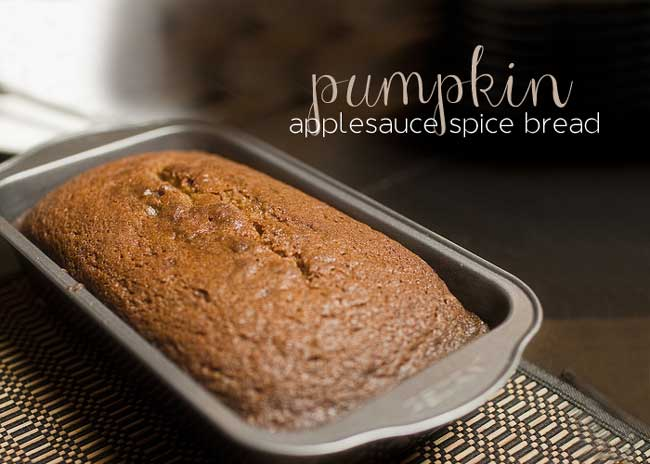 10 Days of Healthier Thanksgiving Recipes - Pumpkin Applesauce Spice Bread