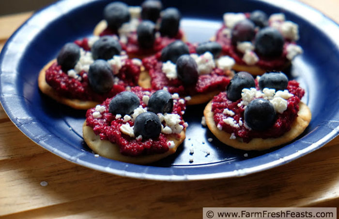 red-white-blue-beet-appetizer 30 Healthy Appetizers for Summer BBQs and July 4th