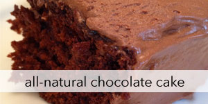 Natural Chocolate Cake