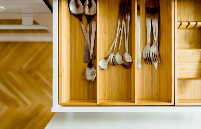 silverware drawer organization