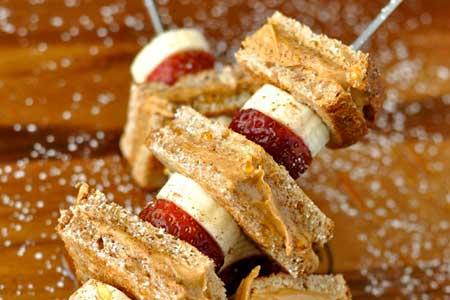 Strawberry Banana Peanut Butter Toast
