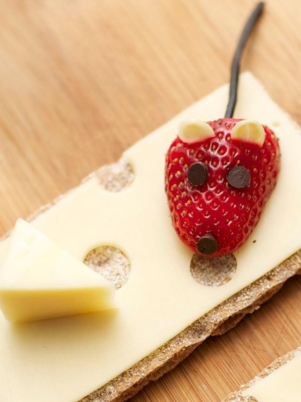 Strawberry Cheese Mice Appetizer