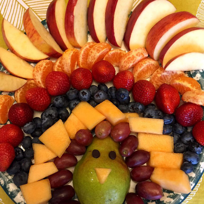 Thanksgiving Turkey Fruit Platter