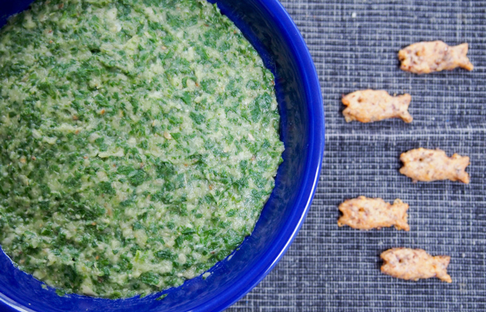 Eggplant Spinach and White Bean Dip Appetizer