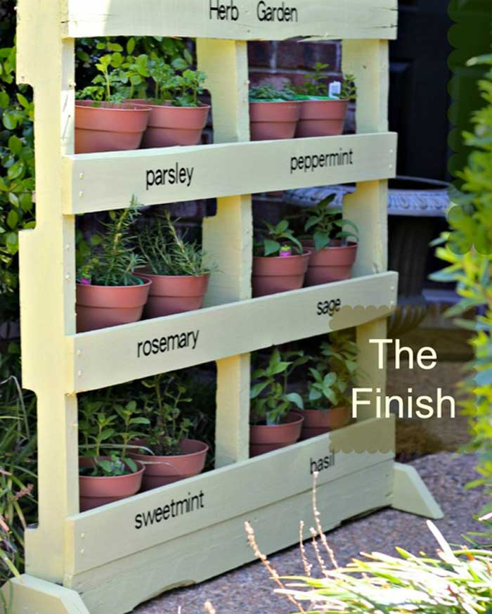 DIY Vertical Herb Garden - Homemade Winter Garden and Birdfeeder Ideas