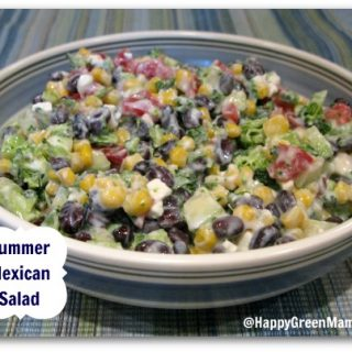 Summer Mexican Salad with Cilantro Yogurt Dressing