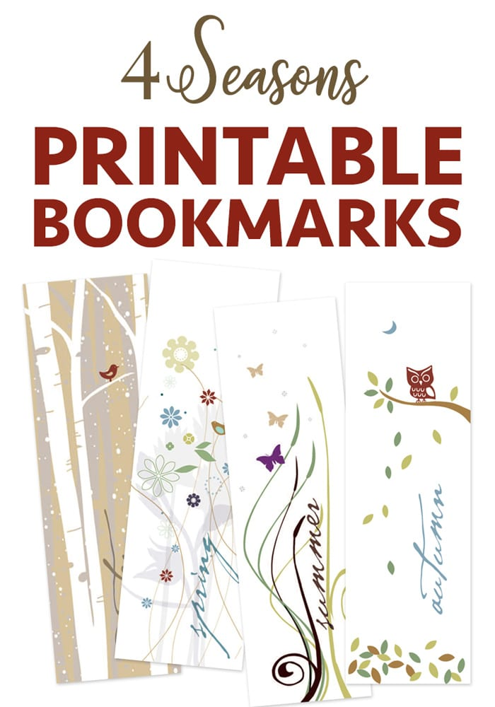Free printable bookmarks of four seasons