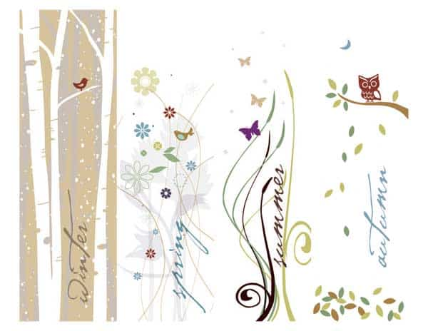 seasons bookmarks printable