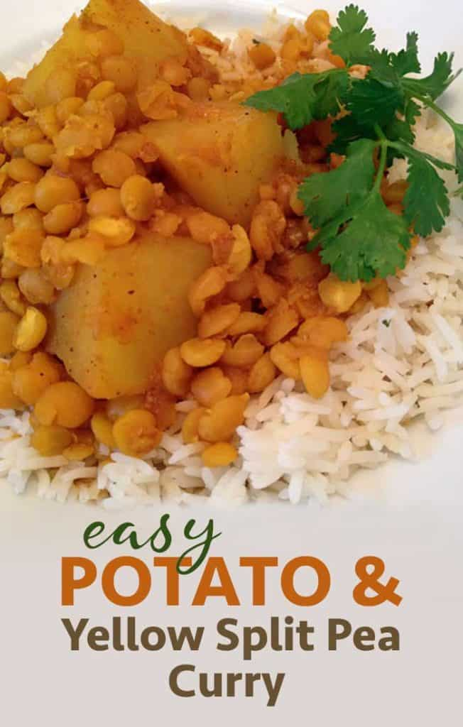 Easy Potato and Yellow Split Pea Curry Recipe
