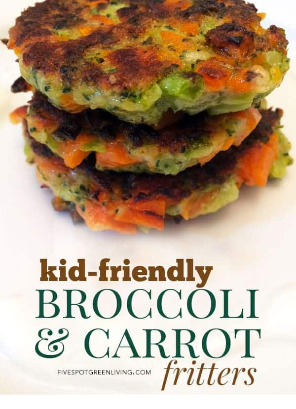 kid friendly broccoli carrot fritters