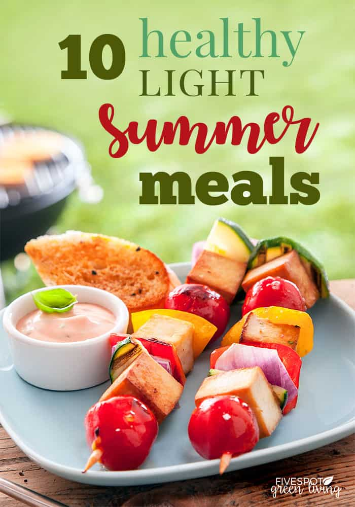 light summer meals outdoors sun
