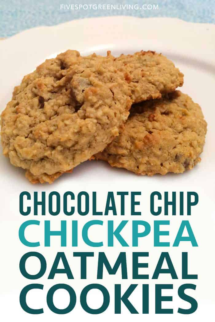 chickpea oatmeal cookies with chocolate chips