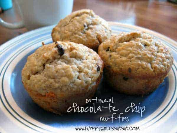 blog-food-oatmeal-chip-muffins Easy and Healthy Pumpkin Muffins Recipe