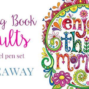 Coloring Book for Adults and Kids Giveaway