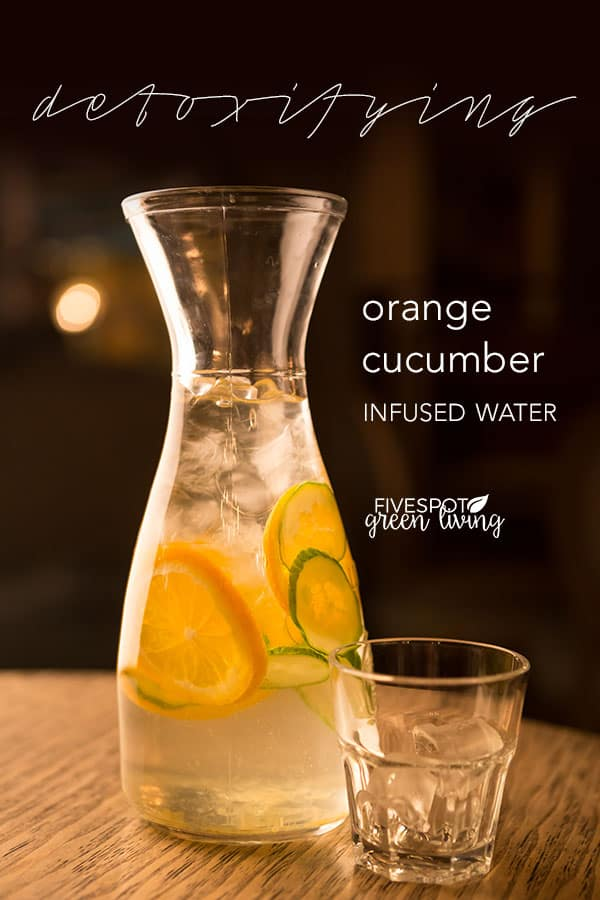 orange cucumber infused detox water