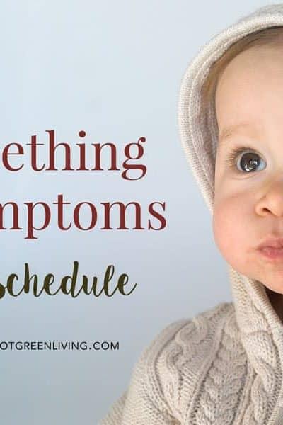 teething symptoms and schedule