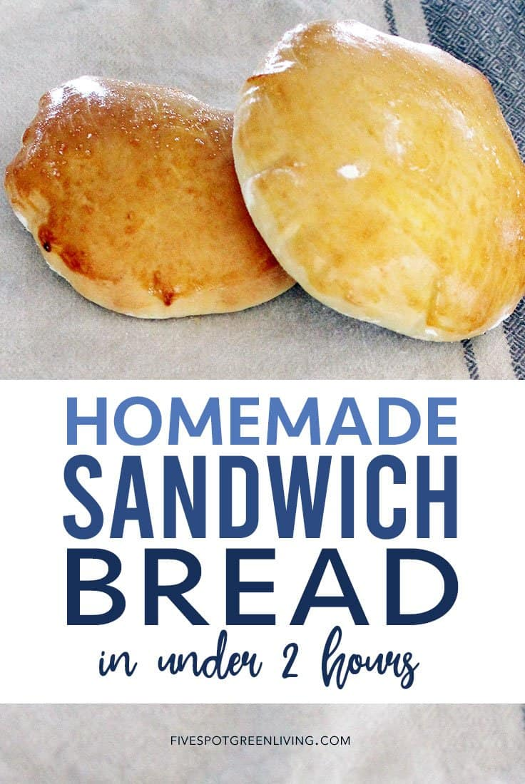 Easy homemade bread for sandwiches