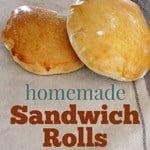 homemade bread sandwich rolls