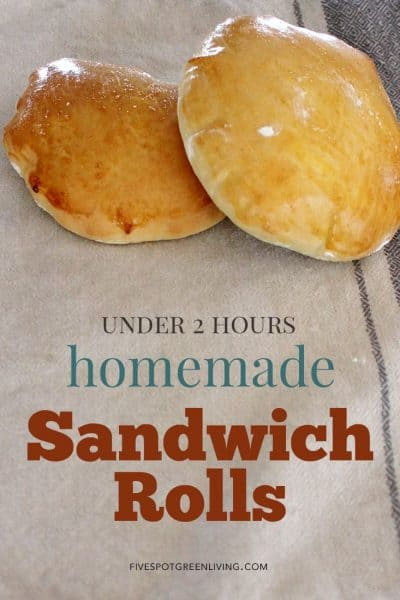 homemade bread sandwich rolls
