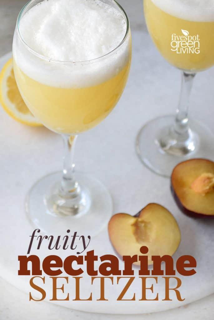 Nectarine Seltzer Mocktail