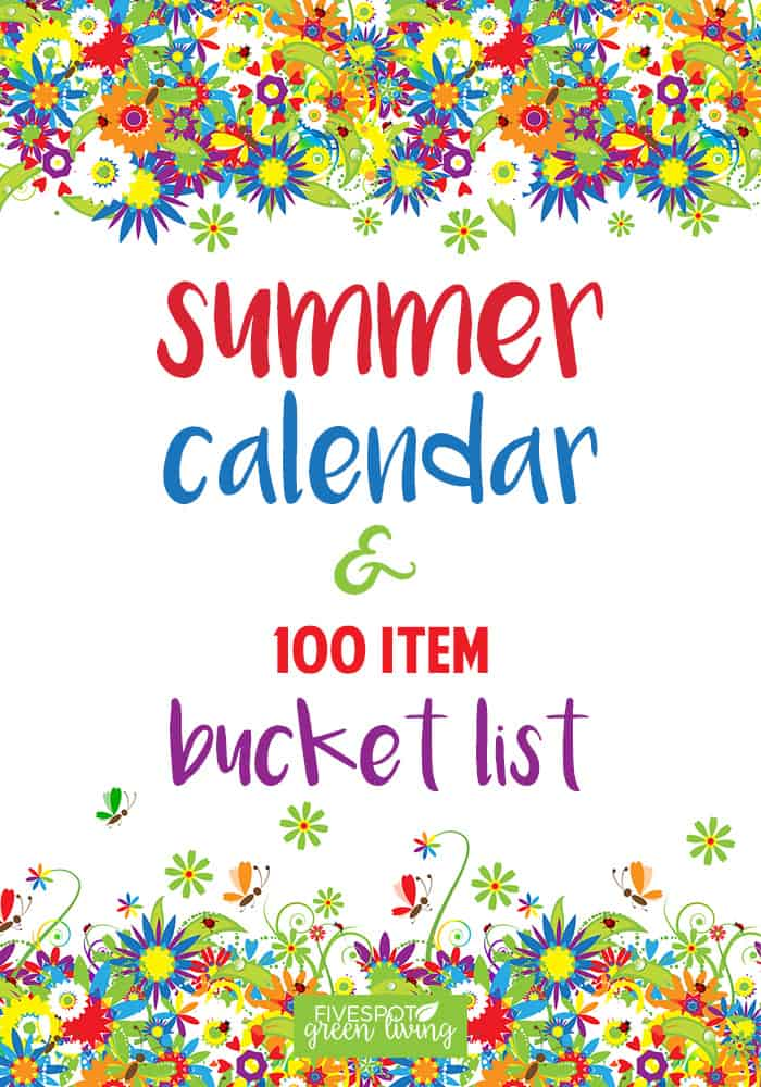Do you have a summer bucket list? If not, you need one! Create some amazing summer adventures and memories for your kids and write them all in this free printable summer calendar!