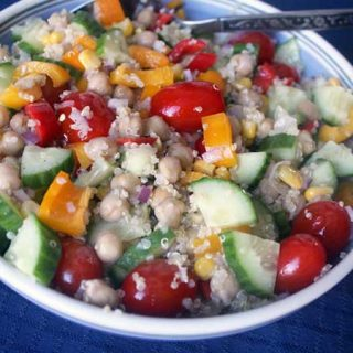 Chickpea and Quinoa Greek Salad