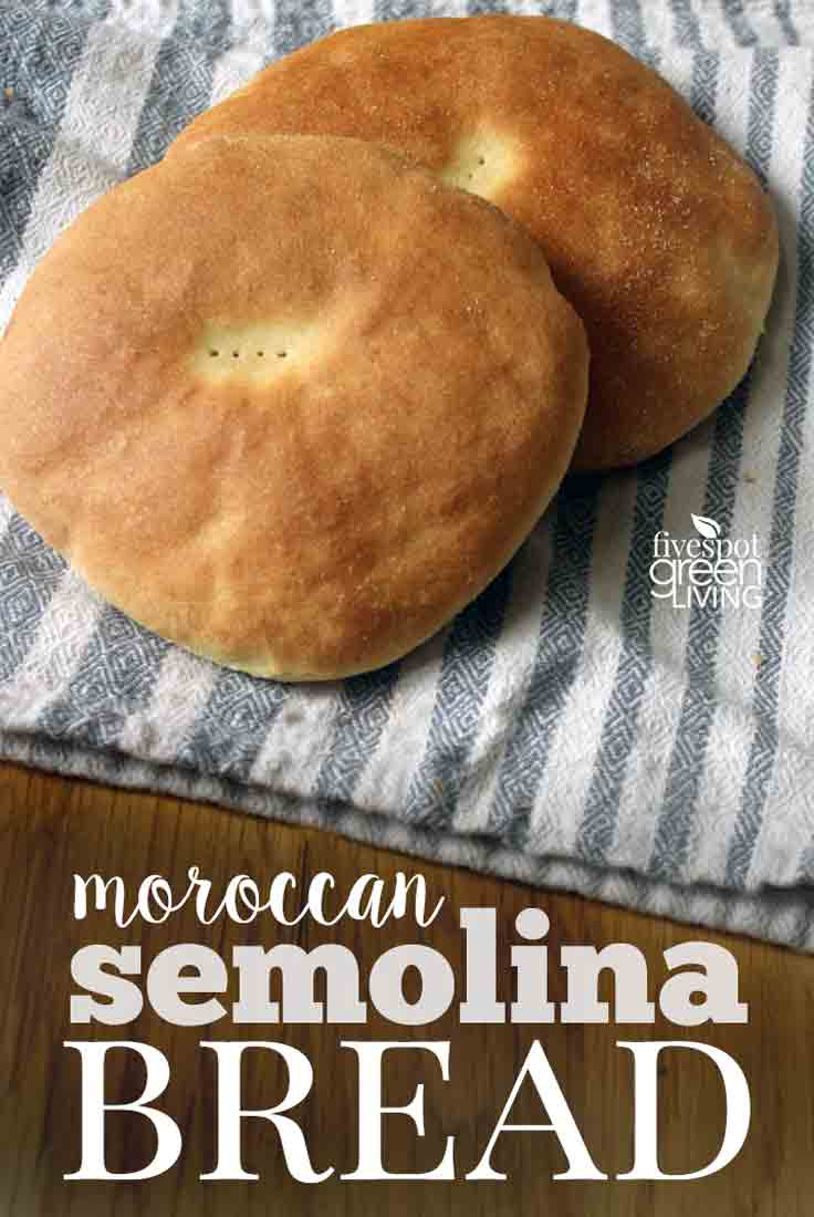 moroccan semolina homemade bread