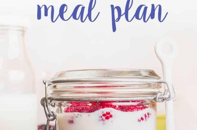 no cook meal plan