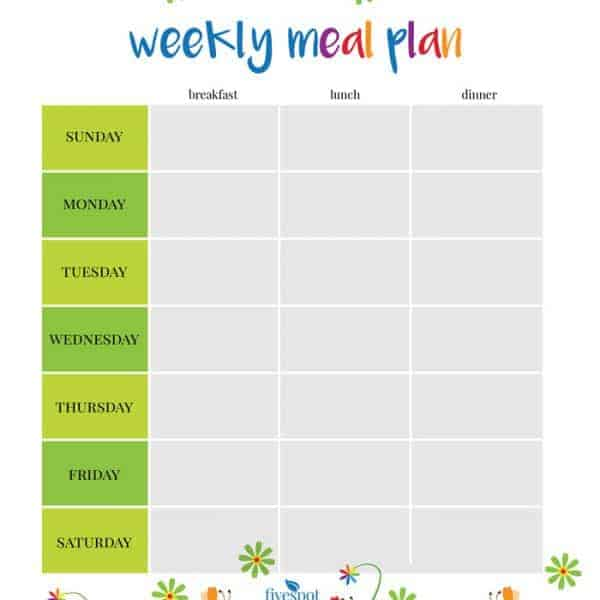 Summer Journal And Meal Planning Calendar Kit