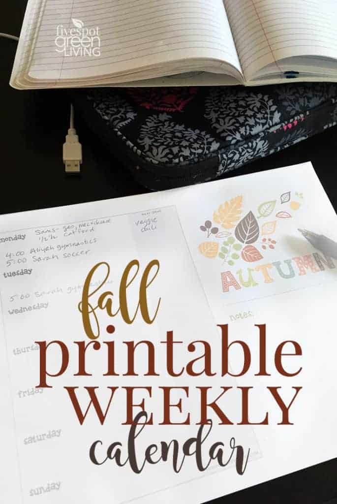 blog-fall-printable-weekly-calendar-685x1024 Woodland Animal Printable Calendar Pages for Fall