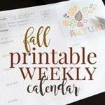 fall printable weekly calendar