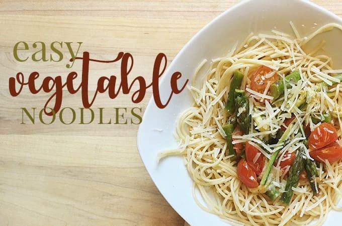 vegetable pasta recipe