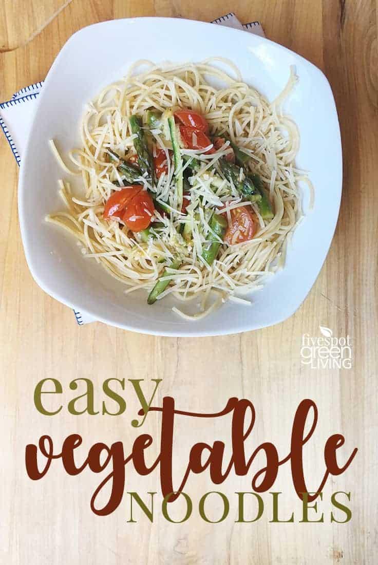 blog-veggie-noodles Creamy Tomato Pasta Recipe with Bruschetta