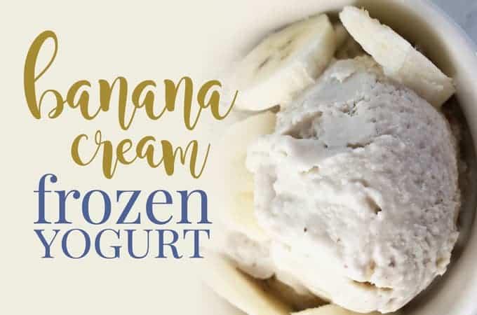 homemade banana frozen yogurt