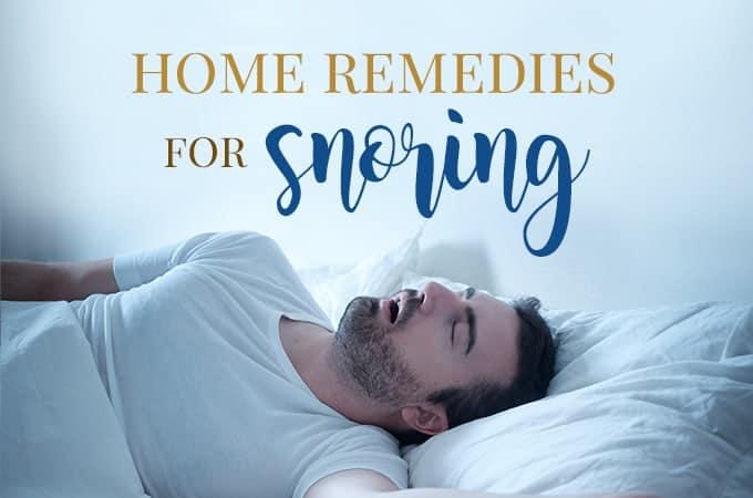 home remedies snoring
