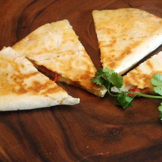 Easy Mango and Brie Quesadilla