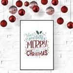 farmhouse christmas printable