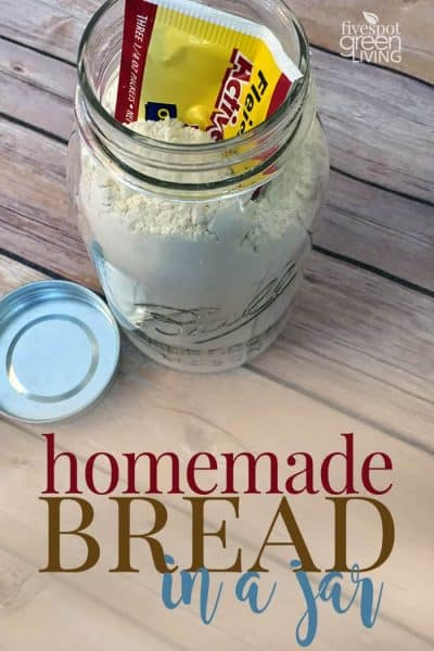 homemade bread in a jar