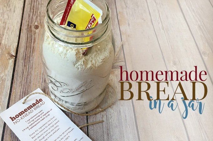 homemade bread in a jar
