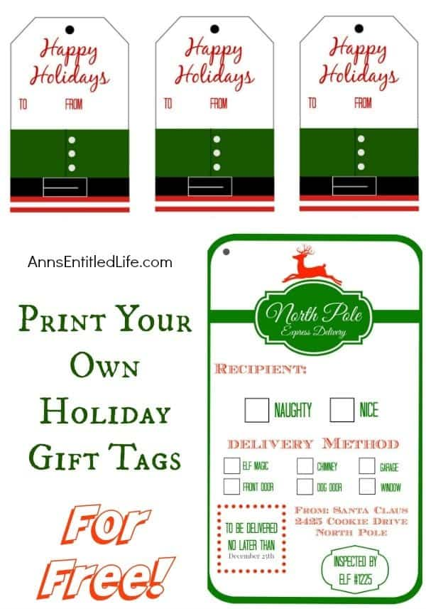 print-your-own-holiday-gift-tags Over 40 Free Printable Christmas Gift Tags