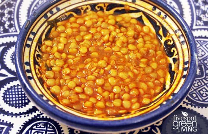 Recipe Living - Moroccan Lentils Easy Green Five Spot