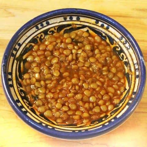 Easy Vegetarian Moroccan Lentils