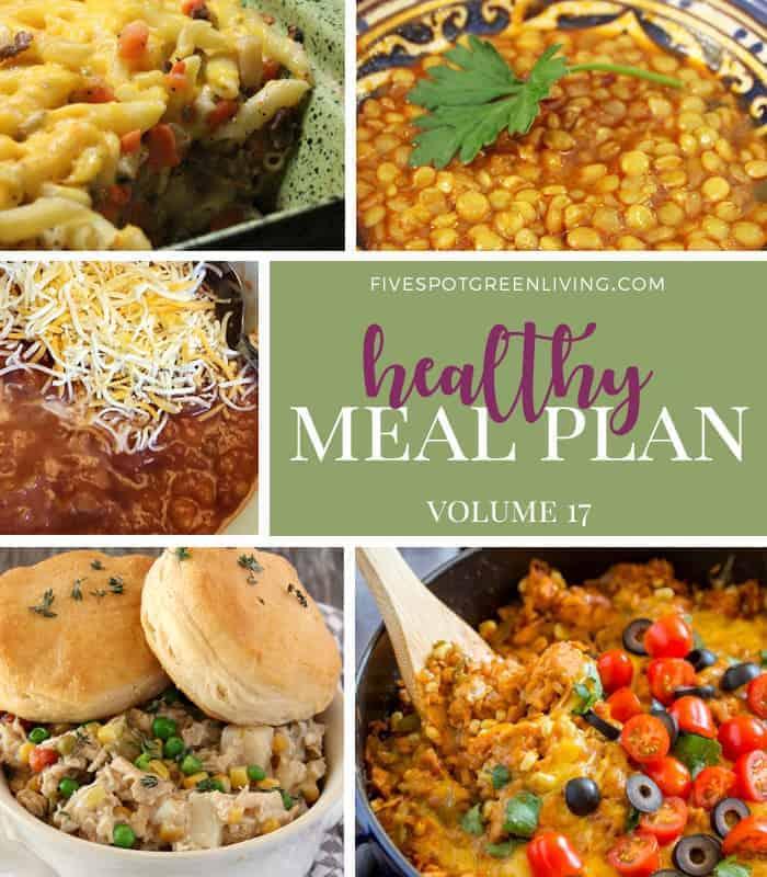 Healthy Meal Plan Weekly Volume 17