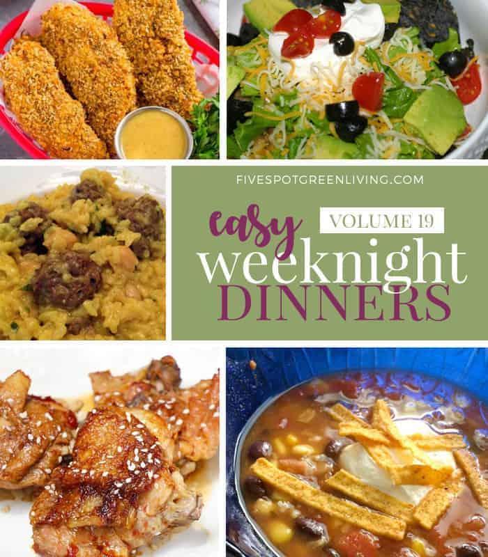 Easy Weeknight Dinners Meal Plan Volume 19