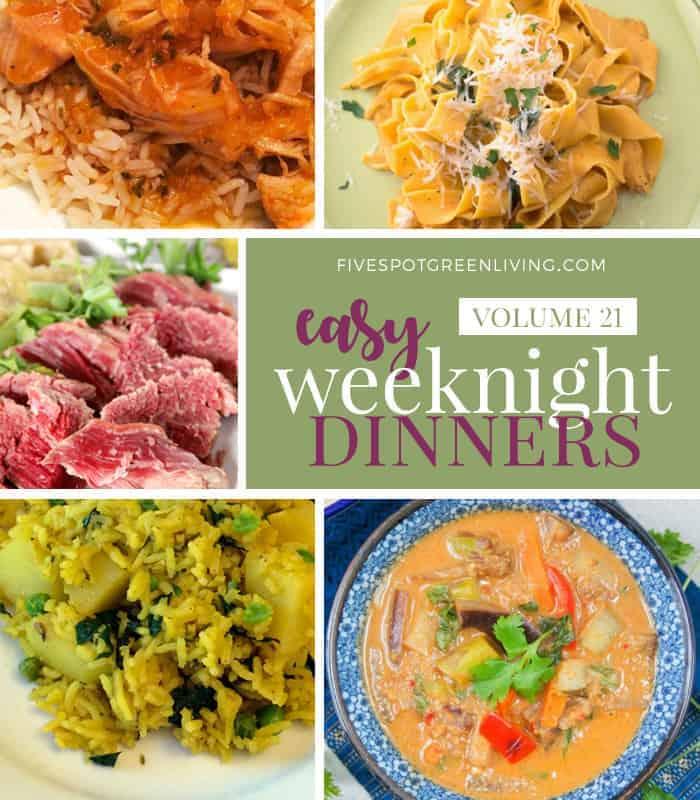 Easy Weeknight Dinners Meal Plan Volume 21