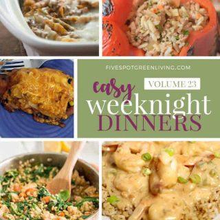 Easy Weeknight Dinners Meal Plan Volume 23