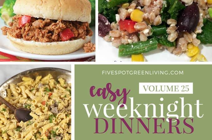 easy weeknight dinners meal plan volume 25